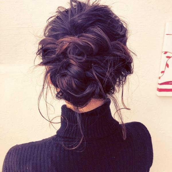 ✨簡単ニュアンスまとめ髪✨まとめ髪スタイル✨