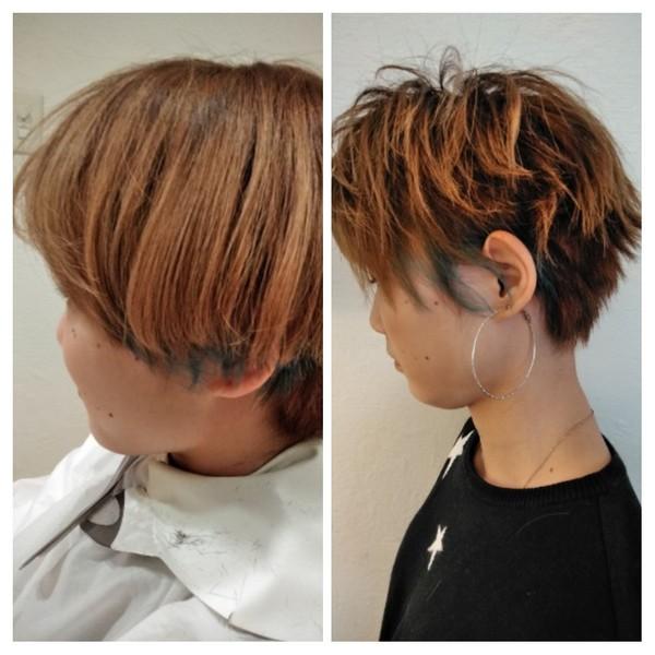 流行と顔に合ったヘアスタイルを骨格とバランスさせてより小顔にみせるショートカット私に似合うショートにして!