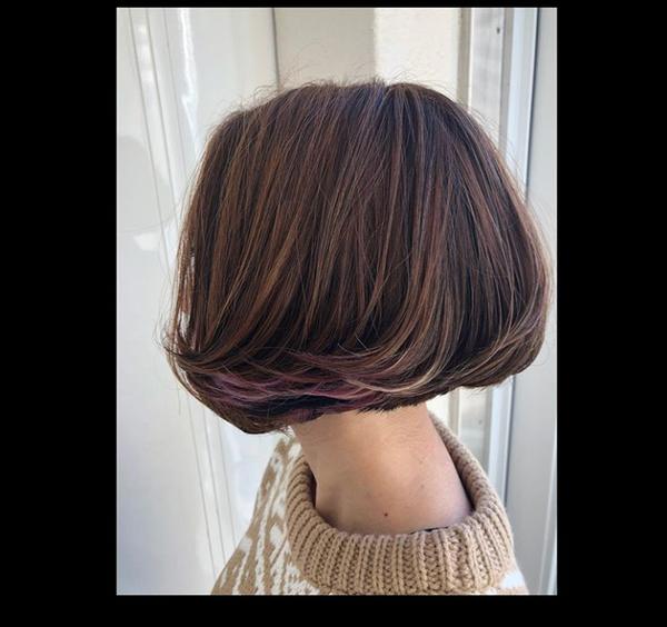 チーフtakeのブログ 直毛で硬いボリュームでない髪質をフォワードボブにし裾カラーでアクセント!