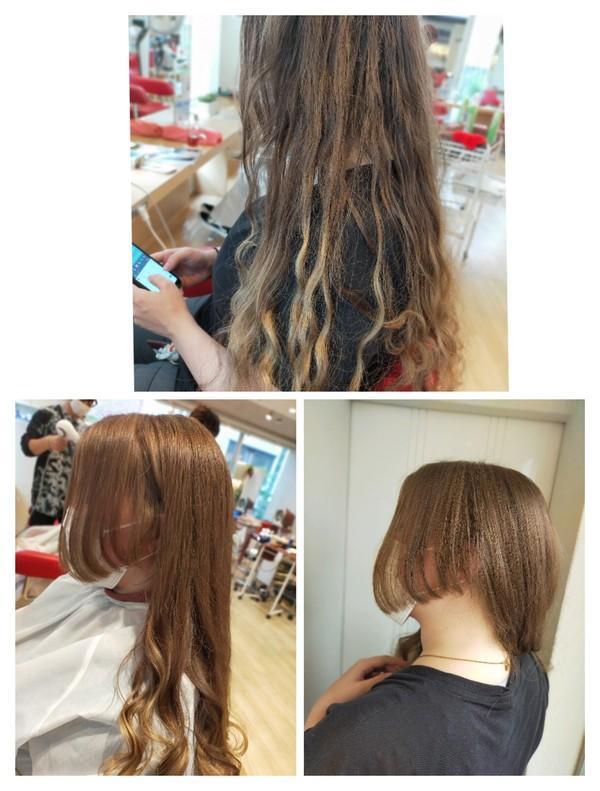 ロングヘアに飽きたら横の髪切ったらいいんじゃない! Takeブログ